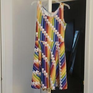 Bright color pencil dress